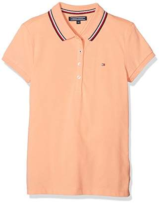 Tommy Hilfiger Girl's AME Sweet S/s Polo Shirt,(Manufacturer Size: 16)