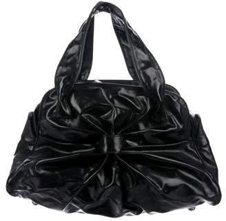 Valentino Patent Leather Handle Bag