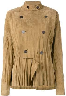 Loewe military style draped jacket