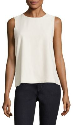 Eileen Fisher Raw Silk Tank Top $128 thestylecure.com