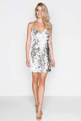 Girls On Film White Sequin Dress