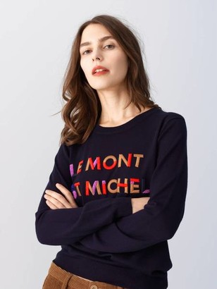 Le Mont St Michel Embroidery Sweater - S