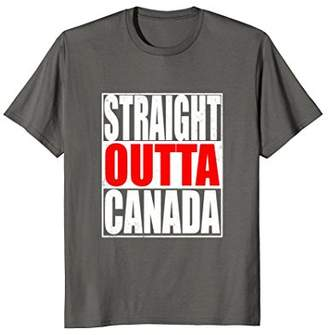 Straight Outta Canada Toronto Vancouver Canadian T Shirt
