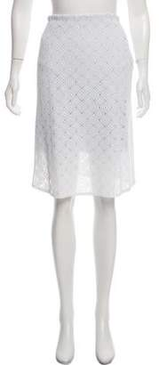 Christian Dior Crochet Knee-Length Skirt