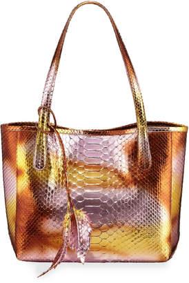 Nancy Gonzalez Erica Small Metallic Python Tote Bag