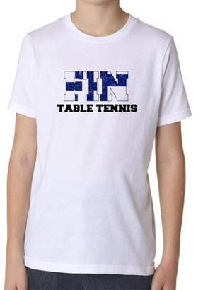 Hollywood Finland Table Tennis - Olympic Games - Rio - Flag Boy's Cotton Youth T-Shirt