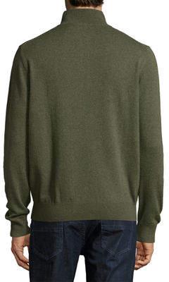 Neiman Marcus Nano-Cashmere Quarter-Zip Sweater
