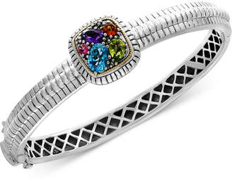 Effy Final Call by Multi-Gemstone Bangle Bracelet (2 ct. t.w.) in Sterling Silver & 18k Gold