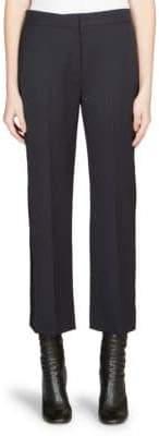 Alexander McQueen Virgin Wool Cropped Tuxedo Pants