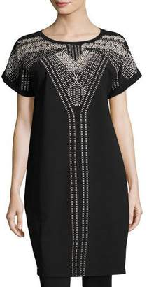 Nic+Zoe Havana Nights Tunic Dress, Black Onyx