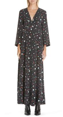 Ganni Nolana Silk Maxi Dress