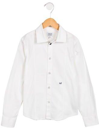 Armani JuniorArmani Junior Boys' Collared Button-Up Shirt
