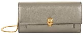 Alexander McQueen Metallic Skull Wallet Bag