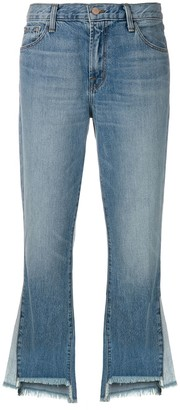 J Brand raw edge flared jeans