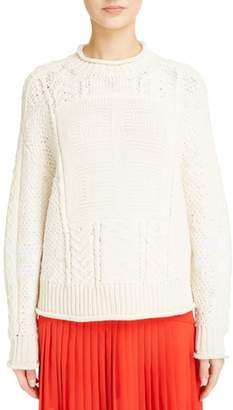 Givenchy Cable Knit Wool & Cashmere Sweater