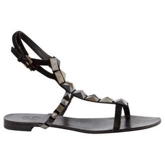 Ash Black Suede Sandals
