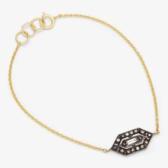 Ila White Sapphire & Diamond Kayna Bracelet