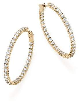 Bloomingdale's Diamond Inside Out Hoop Earrings in 14K Yellow Gold, 5.0 ct. t.w. - 100% Exclusive