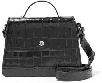 Elizabeth and James - Eloise Mini Croc-effect Leather Shoulder Bag - Black $395 thestylecure.com
