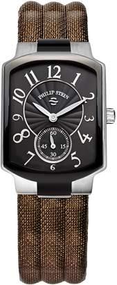 Philip Stein Teslar Women's Brown Leather & Stainless Steel Watch, 39mm
