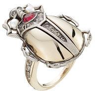Alexander McQueenAlexander McQueen Embellished Beetle Ring