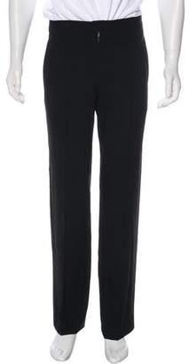Armani Collezioni Flat Front Woven Pants