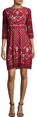 Gabby Skye Pineapple Lace A-Line Dress
