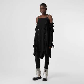 Burberry Deconstructed Crepe Trench Coat Dress