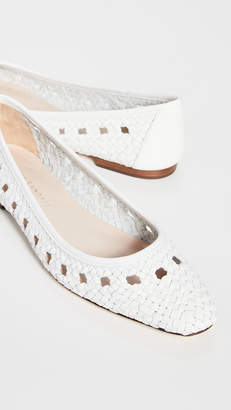 26425260e Loeffler Randall Maura Woven Leather Ballet Flats