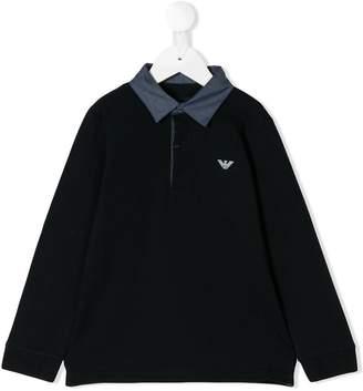 Emporio Armani Kids longsleeved logo polo shirt