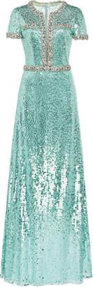 Jenny Packham Sequined Mermaid Dress Size: 6