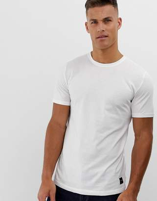 ONLY & SONS longline curved hem t-shirt in white