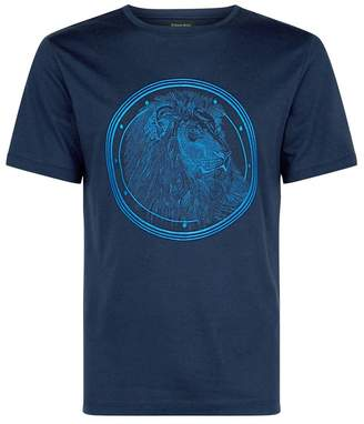 Stefano Ricci Lion Embroidered T-Shirt