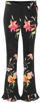 Etro Floral silk pants