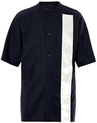 Lanvin Velvet stripe button-down T-shirt