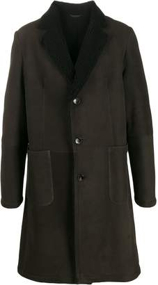 Desa 1972 sheepskin collar coat