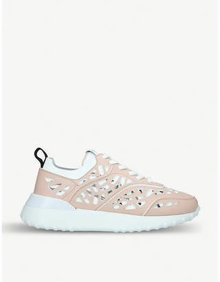 Tod s Tods Cut-out leather and mesh trainers 47cd19bcf