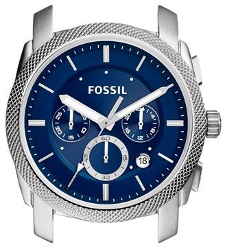 Fossil Machine Chronograph Stainless Steel Case Jewelry