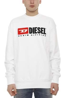 Diesel Logo Print Round Neck Sweater