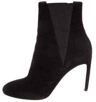 Alaia Suede Round-Toe Ankle Boots