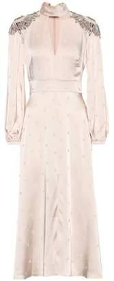 Temperley London Embellished satin midi dress