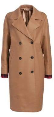No.21 No. 21 Wool-Blend Double-Breasted Camel Coat