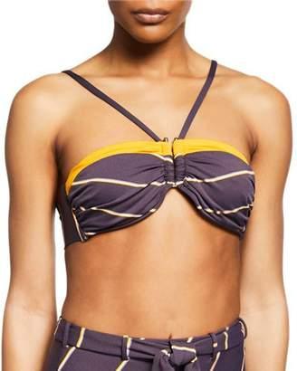 Seafolly Amulet Colorblock Bandeau Bikini Top