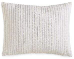 DKNY City Pleat Embroidered Decorative Pillow, 12 x 16