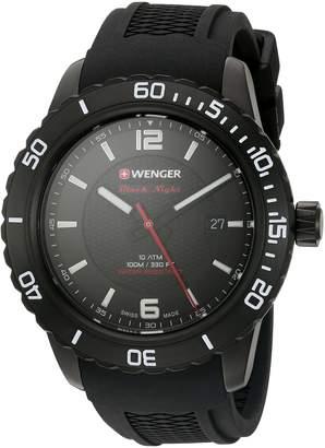 Wenger Men's 01.0851.124 Roadster Analog Display Swiss Quartz Black Watch