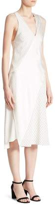 Victoria Beckham Women's Knotted Striped Silk Midi Dress