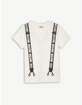 Moschino Metallic braces print cotton T-shirt 4-14 years