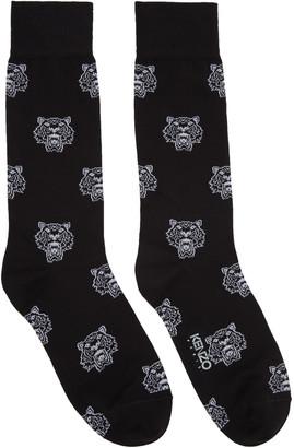 Kenzo Black Allover Tiger Socks $30 thestylecure.com
