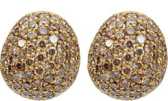 Yossi Harari Small Cognac Diamond Roxanne Earrings