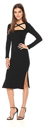 Rachel Pally Women's Luxe Rib Tie Neck Sheath Dress
